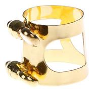 Abraçadeira Presilha Para Clarinete Niquelada Dourada