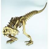 Dinossauro 3d Mdf Quebra Cabeça Alossauro