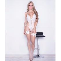 Conjunto Sexy Baby Doll Ropa Interior Íntima Mujer Ligas