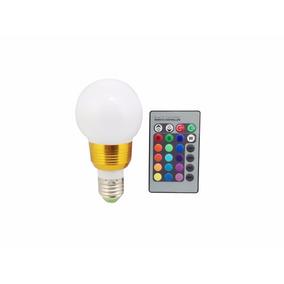 Ampolleta Led Q50e27 Color Control Remoto 5w 220v Piscineria