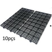 10 Pisos Plastico Preto Estrado Plat 50x25cm Piso P/ Box