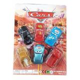 Juguete Cars Set 6 Carros Rayo Mcqueen Mate Colección Niños