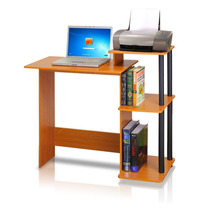 Escritorio Furinno 99797lc/bk Para Hogar U Oficina Maple Vv4