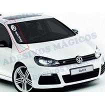 Adesivo Faixa De Parabrisa Vw Racing Volkswagen Clube Sport