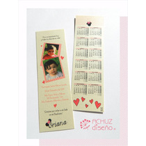 Invitaciones Infantiles Señaladores Cumpleaños Almanaque