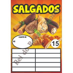 Banner 50x70 Salgado, Churrasco, E Outros