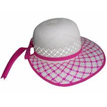 Sombrero De Palma Jipi Para Niña Con Visera