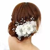 Arranjo Enfeite Cabelo Flor Cristais Noiva Debutante