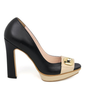 Zapatillas Andrea En23.5 Negro Y Miel
