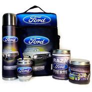 Equipo De Mate Completo Ford  Cuero Set Kit Matero