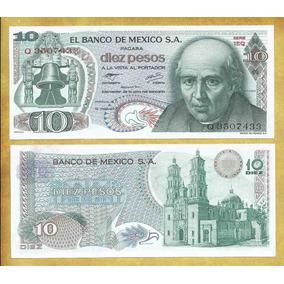 Billete De Mexico 10 Pesos Del Año 1977 Sin Circular