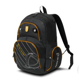 Mochila Escolar Mc.carthy Mod. Mc-10 Mx Negro/amarillo