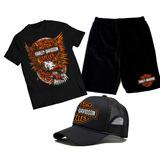 Camiseta Bermuda Moletom E Bone Harley Davidson 883 Moto