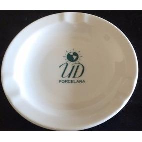 Cenicero De Porcelana Con Publicidad. Sellado. Excelente.