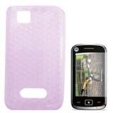 Capa Tpu Motorola Ex128/ex245(pink)+pelicula Lisa
