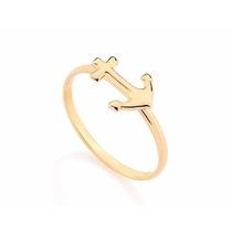 Rommanel Anel Folheado Ouro Skinny Ring Âncora 511934