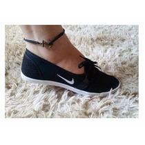 Tênis Sapatenis Sapatilha Feminino Nike Preta Linda