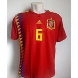 Camisa Espanha Home 6 Iniesta Estrla Campeão Mundial!!! - Camisas de ... ecff6d46d1b6f