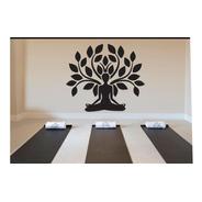 Vinilo Relajacion Yoga Arbol De Meditación Gym 60 X45 Cm