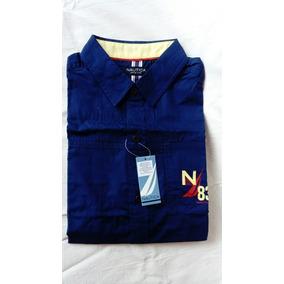 Camisa Náutica Color Azul Marino, Talla 14-16
