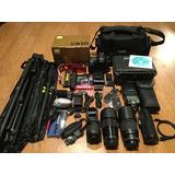 Cámara Nikon D810 Con Accesorios