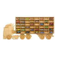 Exhibidor Coleccionador Repisa Trailer Camión Hot Wheels Mdf