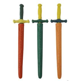 Kit 40 Espada Plástico Com Capa Espadinha Festa