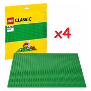 10700 - Lego Classic - Placa Base Verde Lego 4 Unidades
