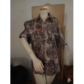 Blusa Camisa Floral Print Ropa Dama Talla Xxl Pequena