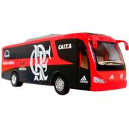 Miniatura Ônibus Flamengo Crf Time De Futebol Em Metal 18cm