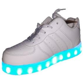 Zapatillas Blancas Reigo Con Luces Calzados Tenis Led