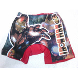 Traje De Baños Tipo Boxer Para Niños Sublimados En Lycra