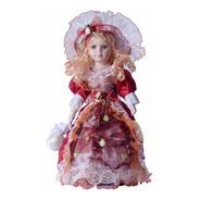 Boneca Porcelana Coleção Camponesa Porcelain Doll 40 Cm Luxo