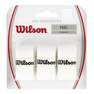 Pack X3 Wilson Pro Overgrip Perforado Cubregrip Tenis Padel