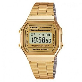 Casio Retro A168 Stainless Steel Back Water Resistant