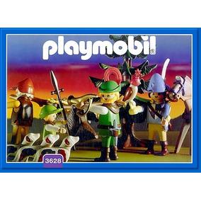 Playmobil Set 3628 Cazadores Medievales Con Jabali Y Caballo