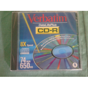 Cd-r Verbatim Regravables 74 Min 650 Mb En Caja Protectora