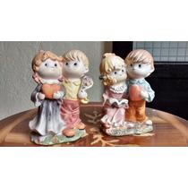 2 Parejas Preciosos Momentos Figuras De Porcelana Fina