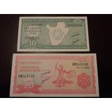 2 Billetes Burundi. 10 - 20 Francos. Año 2007. Nuevos. Unc.