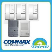 Kit Portero Electrico Commax Dp-la101 3 Telefonos Y Frente