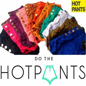 Shortinho Shors Hot Pants Feminino Cintura Alta Colorido