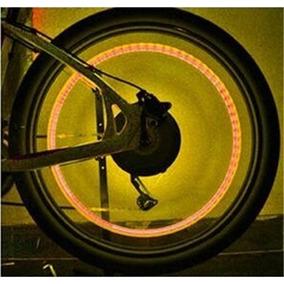 Kit 2 Bicos Neon Led Rgb Bicicleta Moto Carro Pneu Roda Bike