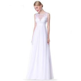 Vestido De Noiva Casamento Civil Decote Com Detalhe Em Tule
