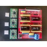 Kit Electronico Impresora 3d Cnc 3gdl Shield Cnc V3 Y A4988