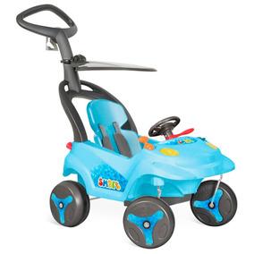 Carrinho Smart Baby Encosto Reclinável Azul - Bandeirante