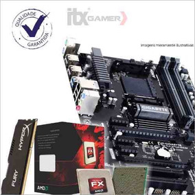 Kit Gamer Processador Fx-6300 + Gigabyte Ga-970a-ds3p + 4gb