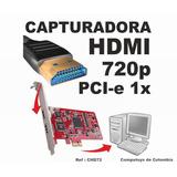 Computoys17 Tarjeta Capturadora Hdmi Pci E 1x Qchd72q Zchd72