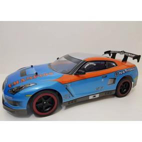 Carrinho Controle Remoto Nissan Gt-t Azul Corrida C44