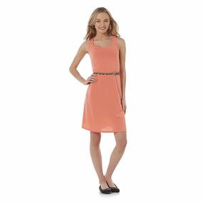 Vestido Color Coral Incluye Cinto Envío Gratis