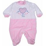 Macacão Bebê Menina Em Plush Vicky Lipe